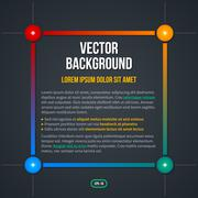 Frame background with colorful gradients. EPS10. - stock illustration