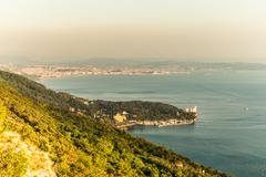 evening in the gulf of trieste - stock photo
