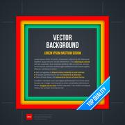 Vector background with colorful square frame. - stock illustration