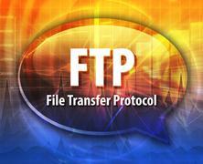 Stock Illustration of FTP acronym definition speech bubble illustration