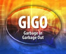 GIGO acronym definition speech bubble illustration - stock illustration