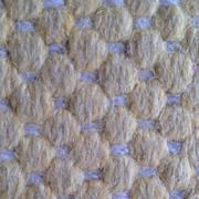 Beautiful yellow knitted woolen fabric texture. Stock Illustration