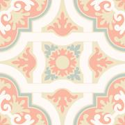 ceramic tiles with seamless pattern - stock illustration