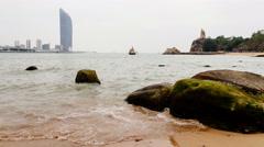 Timelapse View In The Beach Of Kulangsu Island. 4K Stock Footage