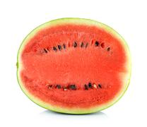 Water melon isolated on the white background - stock photo