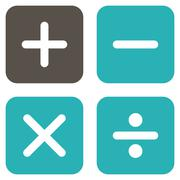 Calculator icon from Business Bicolor Set - stock illustration
