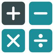 Stock Illustration of Calculator icon from Business Bicolor Set