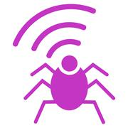 Radio spy bug icon Stock Illustration