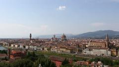 Aerial Skyline of Florence Stock Footage