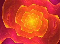 Spiral fractal background - stock illustration