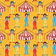 Stock Illustration of Sketch circus tent and clawn