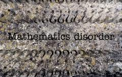 Mathematic disorder concept on grunge background Stock Photos