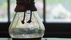 Coffee Brewing in a Chemex, Pour Over, Morning Breakfast timelapse - stock footage