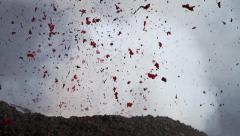 Volcano explosive Stock Footage