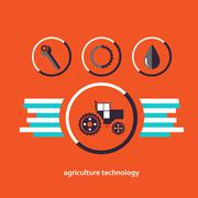 Set of vector characters relating to agriculture - stock illustration
