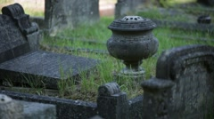 English Cemetary Urn Stock Footage