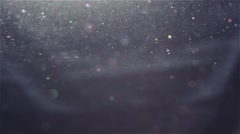 Real Dust particles Moving in the Air from Left to Right Stock Footage