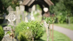 English Cemetery flowers Stock Footage