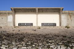 Shelter on the Sea Wall, Canvey Island, Essex, England Kuvituskuvat