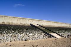 Sea wall and steps on Canvey Island, Essex, England Kuvituskuvat