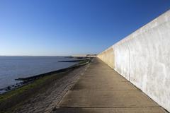 Sea wall on Canvey Island, Essex, England Kuvituskuvat