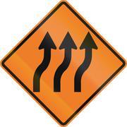 Stock Illustration of Three Lane Reverse Curve In Canada