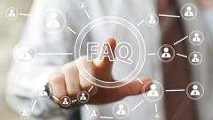 Business button FAQ connection online communication - stock footage