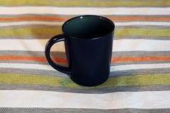 A black cup - stock photo