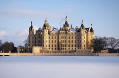 Germany castle in Schwerin - stock photo