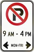 No Parking In Specified Time in Canada Stock Illustration