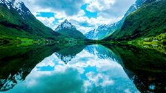 Beautiful Nature Norway. Stock Footage