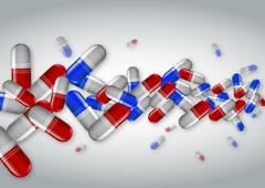 Many capsules Stock Illustration
