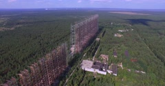 "Stock Video Footage of ""Duga"", the Steel Giant Near Chernobyl (Aerial, 4K)"