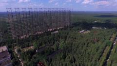 """""""Duga"""", the Steel Giant Near Chernobyl  (Aerial, 4K) Stock Footage"""