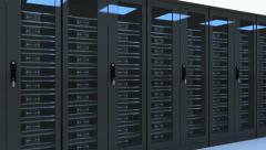 3d Server Loop animation - stock footage