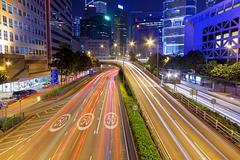 Busy traffic night Stock Photos