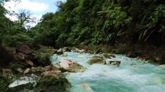 The river Rio Celeste Stock Footage