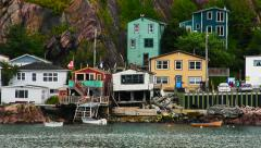 Scenes of Newfoundland Lower Battery Stock Footage