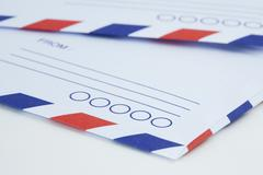 Air mail envelope Stock Photos