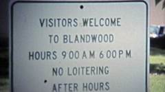 1971: Blandwood Mansion rules keep the town safe. Stock Footage