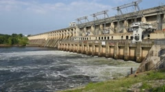 River Dam Stock Footage