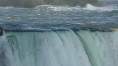 Niagara Falls water closeup view Stock Footage
