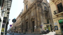 Old church in Palermo Stock Footage