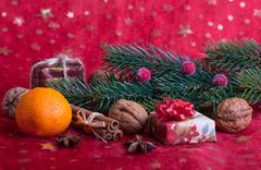 Christmas decoration  on white background Stock Photos
