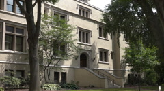 Typical College or University Building on Campus Stock Footage