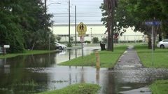 Flooded Neighborhood Street In Gulfport Florida 04 Stock Footage