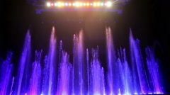 Water Fountain Light Show Entertainment At Circus Stock Footage