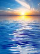 Surface Rippled of water and sky background Stock Photos
