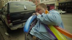 Time Lapse of Balloon Artist Stock Footage