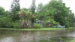 Flooded Neighborhood Street In Gulfport Florida 01 Stock Footage
